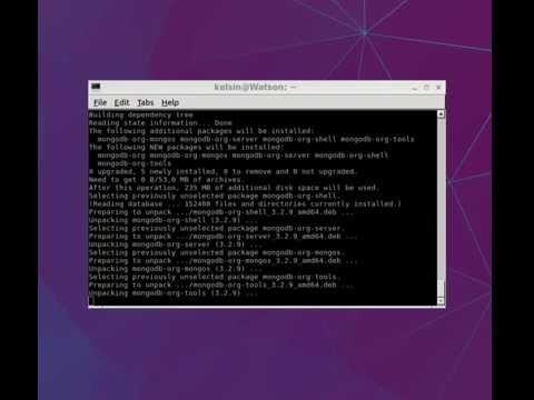 How to install MongoDB in Linux (Ubuntu based) 16.04