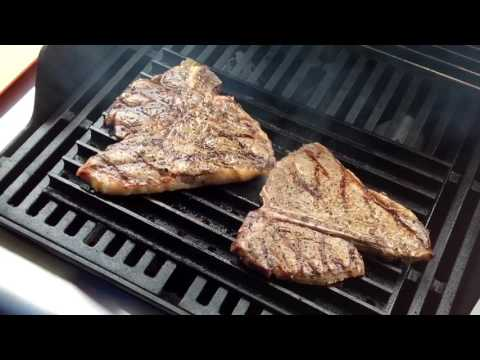 Weber Gas Grill and Grill Grates / Porter House Steaks
