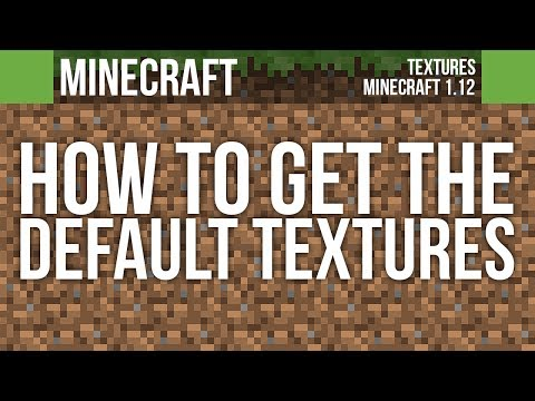 How To Get The Current Default Textures Pack | Minecraft 1.12