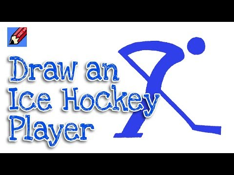 How to Draw an Olympic Ice Hockey Player Pictogram Real Easy