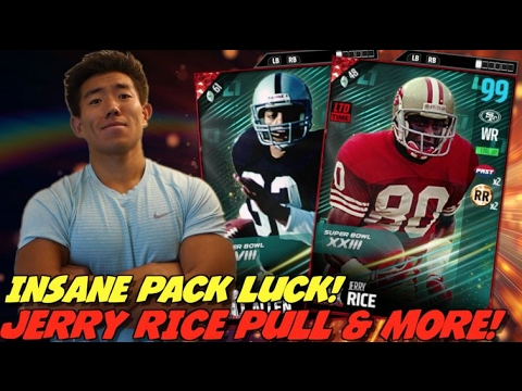 WE PULL THE BEST RECEIVER IN HISTORY! CRAZY PACK LUCK! MADDEN ULTIMATE TEAM 17