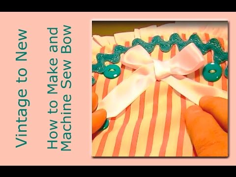 How to Make a Bow and Machine Sew on Children's Clothing