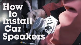 How To Install Car Speakers Coaxial Crutchfield Video