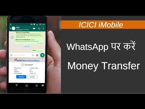 Send Money on WhatsApp using ICICI iMobile