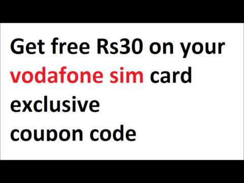 Get free Rs 30 on any vodafone prepaid sim card exclusive coupon code