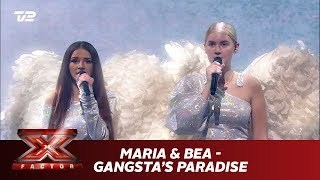 Maria & Bea synger 'Gangsta's Paradise' - Coolio feat L. V. (Live) | X Factor 2019 | TV 2