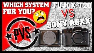 Fuji X-T20 vs Sony A6000, A6300, A6500