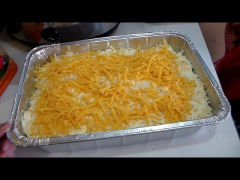 My Christmas Cheesy Hash-brown Casserole