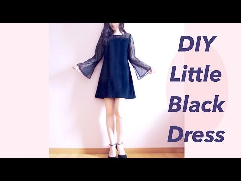 DIY Little Black Dress / 服作り / 옷만들기 / 手作教學 / Costura / Sewing Tutorialㅣmadebyaya