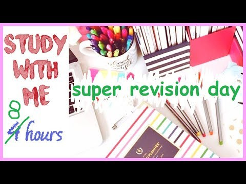 study with me (live) super revision day