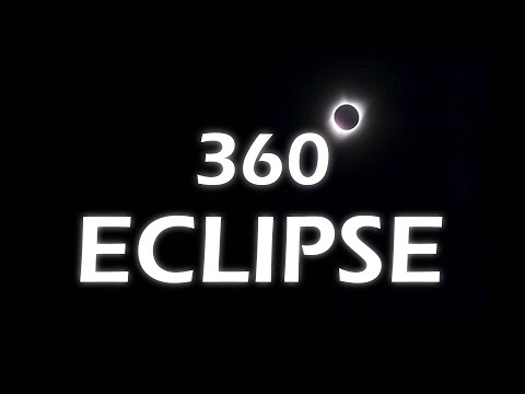 360 View of a solar eclipse