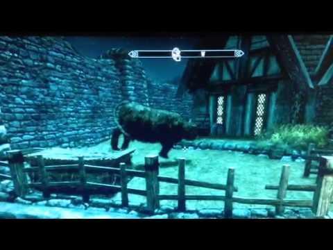 Skyrim glitch cow