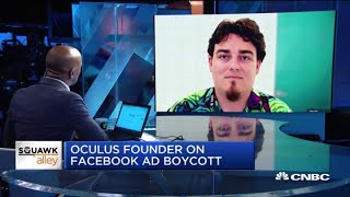 The outlook for tech and Facebook ad boycott: Anduril's Palmer Luckey