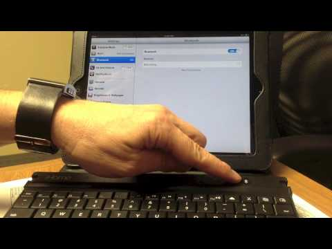 How to connect an iPad to a bluetooth keyboard - OBU
