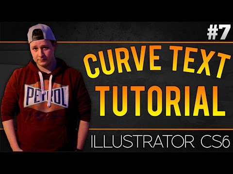 How To Curve Text In Adobe Illustrator CS6 - Tutorial #7