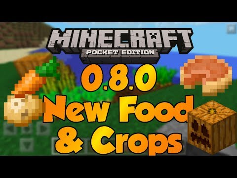New FOOD in MCPE 0.8.0 - Carrots and Potatoes ADDED - Minecraft Pocket Edition 0.8.0 Update Video
