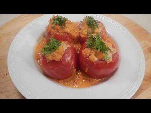 Chicken Stuffed Tomatoes   Sanjeev Kapoor Khazana