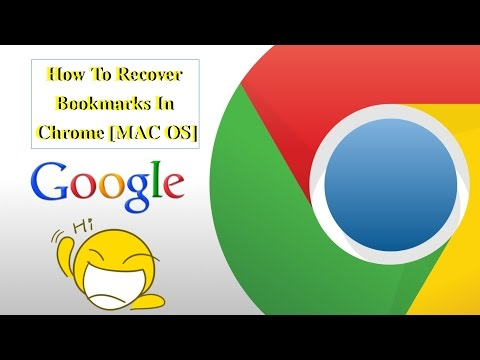 How To Recover Bookmarks Chrome MAC OS