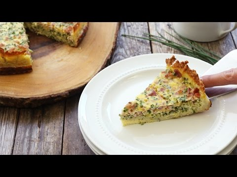 How to Make Broccoli, Ham & Cheese Quiche with a Hash Brown Crust