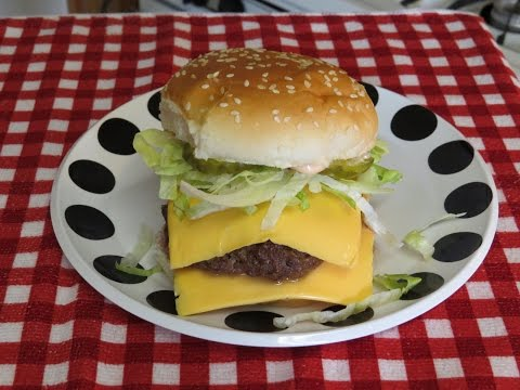 How to Make a Big Mac Style Hamburger in the Toaster Oven