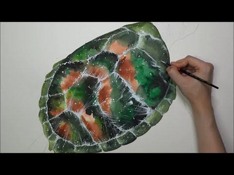[Watercolor] Galaxy X Green Turtle