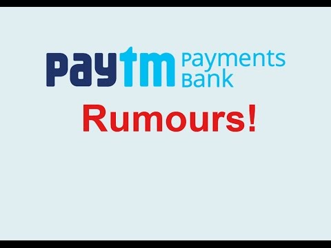 PayTM Payments Bank Rumours | Interest Rate | Wallet Balance