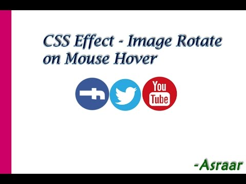 CSS Effect - Image Rotate on mouse hover