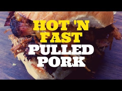 Hot N Fast BBQ Smoked Pulled Pork - Weber Kettle Grill with the Slow 'N Sear