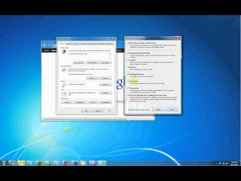 Quick Overview on How To Delete your Cache Cookies and History on Internet Explorer