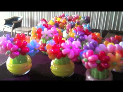 Balloon Flowers in Vases
