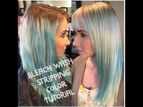 How to strip out Colored Hair| Bleach Wash Tutorial| PART 1|