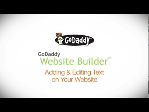 GoDaddy How-to - Adding and Editing Text on Your Website Builder Site