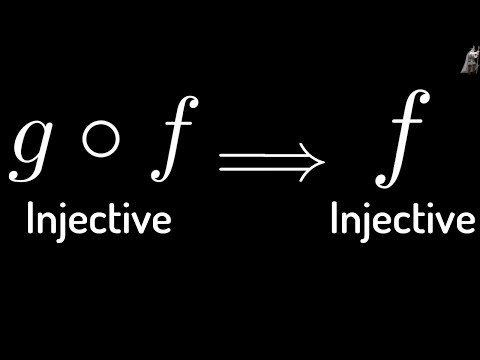 Proof that if g o f is Injective(one-to-one) then f is Injective(one-to-one)