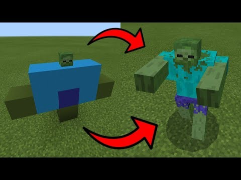 How To Spawn the MUTANT ZOMBIE in Minecraft PE