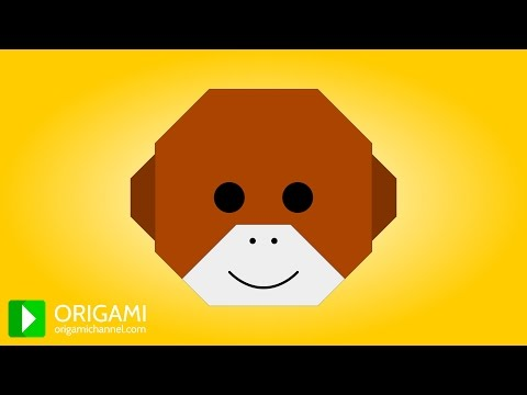 How to Make an Origami Monkey Face 🐵 3D Animated Tutorial! (4K)