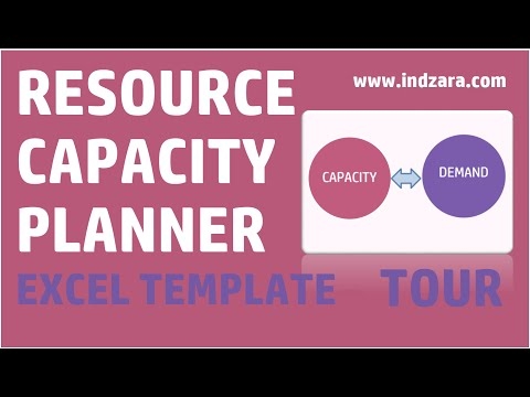 Resource Capacity Planner - Excel Template v1 - Tour