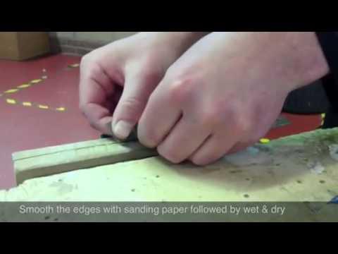 Finishing pewter jewellery