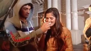 Diler Kharkiya & Anjali Raghav shooting time || Dilar kharkiya Birthday party Celebration
