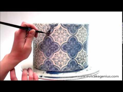 Spanish Tile Cake Stencil Set