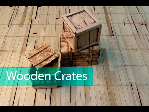 Miniature Props - Wood Crates - ep07