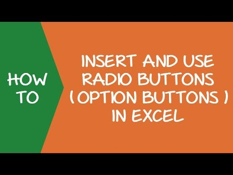 How to Insert and Use a Radio Button (Option Button) in Excel