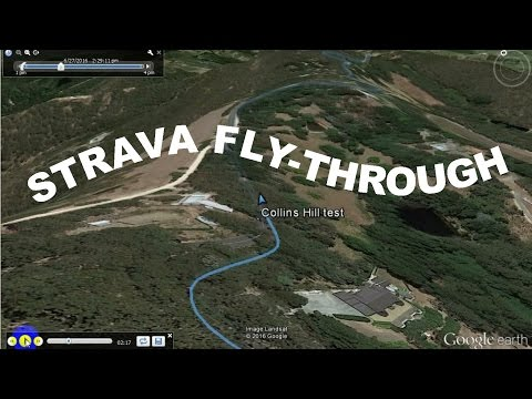 Create a Google Earth flythrough from a Strava activity track
