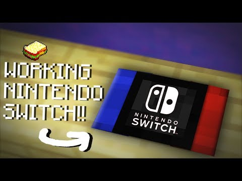 Minecraft | How to make a Working Nintendo Switch | No Mods