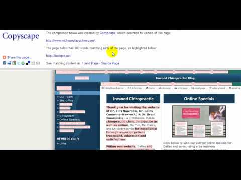 How to Use CopyScape to Find Duplicate Website Content