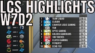 LCS Highlights ALL GAMES Week 7 Day 2 Summer 2019 League of Legends NALCS