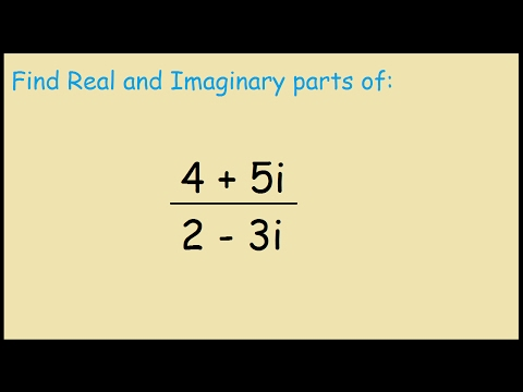 Find the real and imaginary parts of (4+5i)/(2-3i)