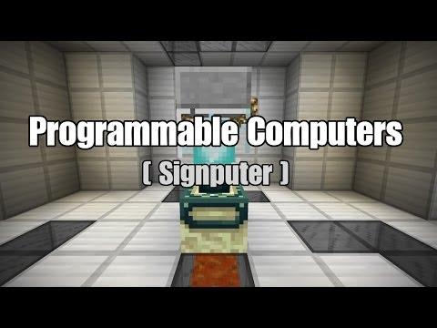Programmable Computers in Vanilla Minecraft
