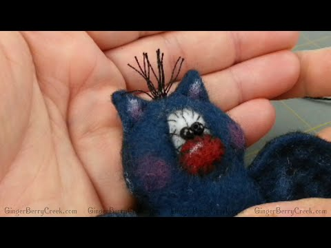 Adding Hair using Thread to Primitive Doll Patterns