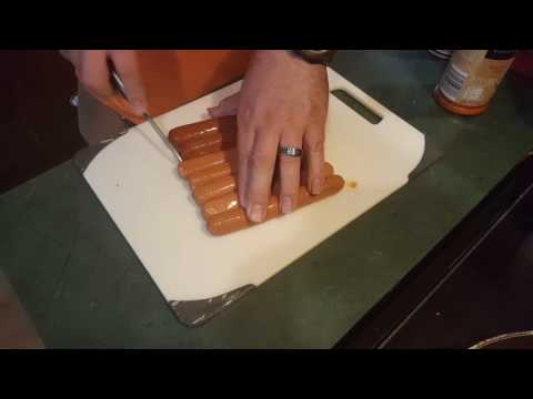 A quick tip on how to get your hot dogs to cook more evenly