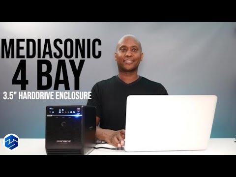 "Mediasonic HF2-SU3S2 4 Bay 3.5"" SATA Hard Drive Enclosure"